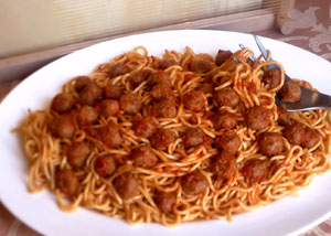 Meatballs, called Pallotte in Italian dialect, are tiny.